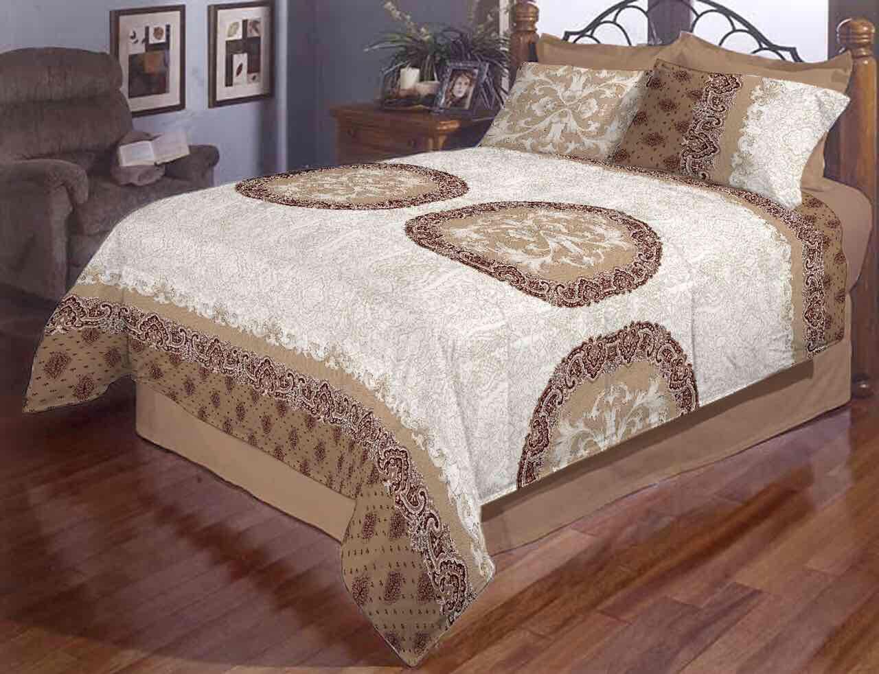 Семейное постельное белье Большие круги Gold