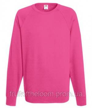 Мужской легкий свитер толстовка реглан Fruit of the loom 62-138-0 57 Малиновый, L