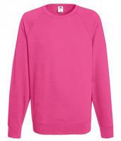 Мужской легкий свитер толстовка реглан Fruit of the loom 62-138-0 57 Малиновый, 2XL