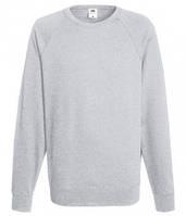 Мужской легкий свитер толстовка реглан Fruit of the loom 62-138-0 94 Серо-Лиловый, XL