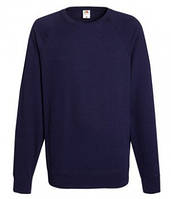 Мужской легкий свитер толстовка реглан Fruit of the loom 62-138-0 AZ Глубокий Темно-Синий, 2XL