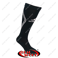 Гетры футбольные Adidas FB020126 (х-б, верх-нейлон, р-р 40-45, черный)