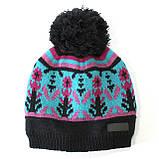 Зимняя детская шапка для девочки Nano F17 TU 268 Deep Grey. Размеры 9/12 мес- 7-12., фото 2