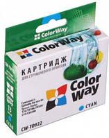 Картридж ColorWay EPSON St. T26/27/TX106/C91 Cyan T0922