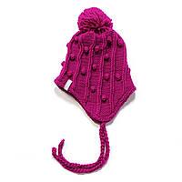 Зимняя детская шапка для девочки Nano F17 TU 260Mauve Rose. Размеры 12/24 мес.- 7-12.