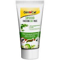 GimCat (Джимкет) SUPERFOOD DIGESTION DUO-PASTE 50г - дуо-паста для пищеварения кошек (лосось/яблоко)