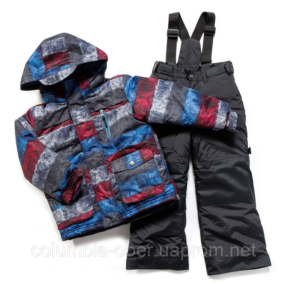 Зимний костюм для мальчика PELUCHE F17 M 63 EG Red Pepper / Deep Grey. Размеры 96-128.