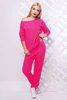 Женский ярко-розовый костюм LILI ТМ FashionUp 42-46 размеры