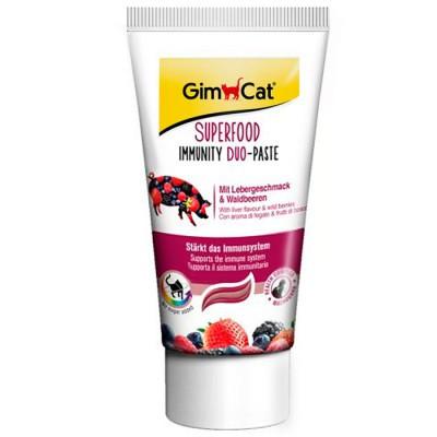 GimCat (Джимкет) SUPERFOOD IMMUNITY DUO-PASTE 50г - дуо-паста для укрепл. иммунитета кошек(печень/лесн.ягоды)