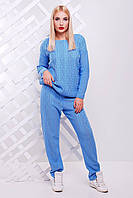 Женский голубой костюм LILI ТМ FashionUp 42-46 размеры