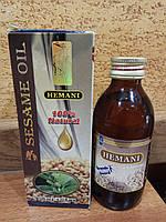 Масло кунжутное (холодный отжим семян кунжута) лучший источник кальция для организма! Hemani Пакистан, 125 мл