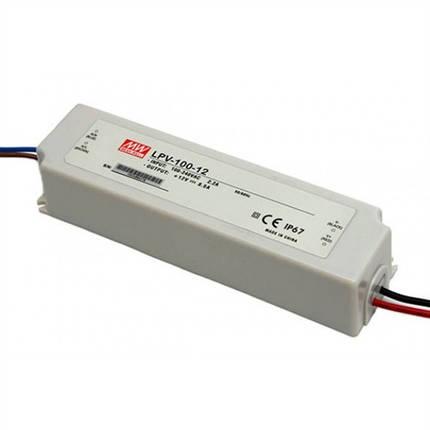 Блок питания Mean Well LPV-100-12 12В; 8.5А; 102 Вт IP67 (герметичный) Код.59017, фото 2