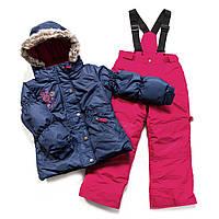 Зимний костюм для девочки PELUCHE F17 M 52 EF Navy Mauve / Framboise. Размеры 96 - 128., фото 1