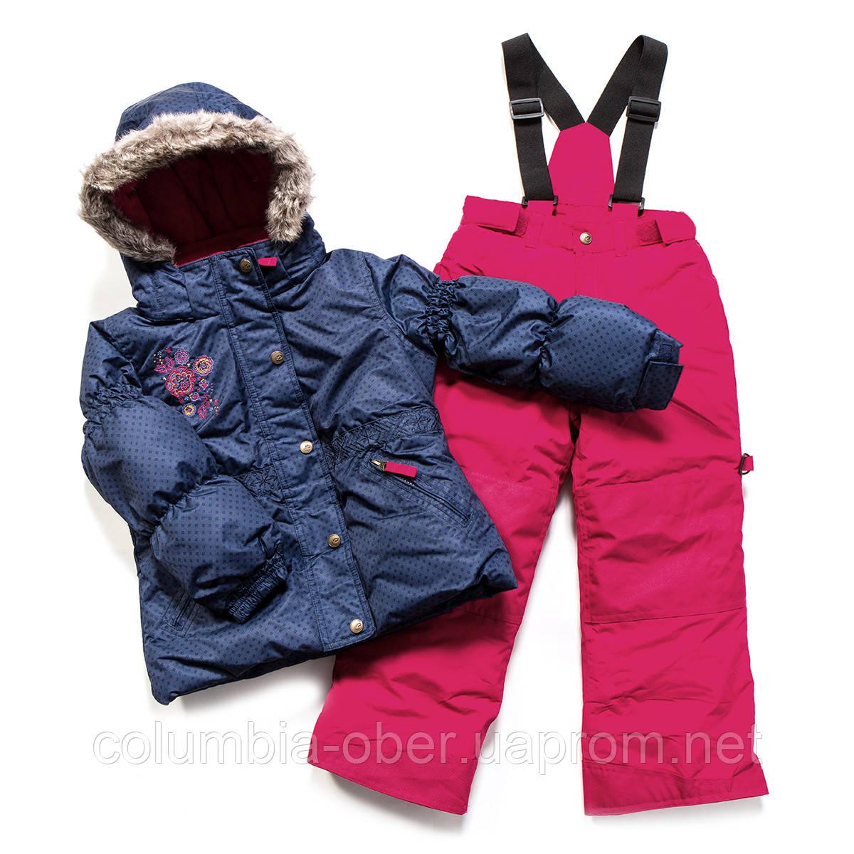 Зимний костюм для девочки PELUCHE F17 M 52 EF Navy Mauve / Framboise. Размеры 96 - 128.