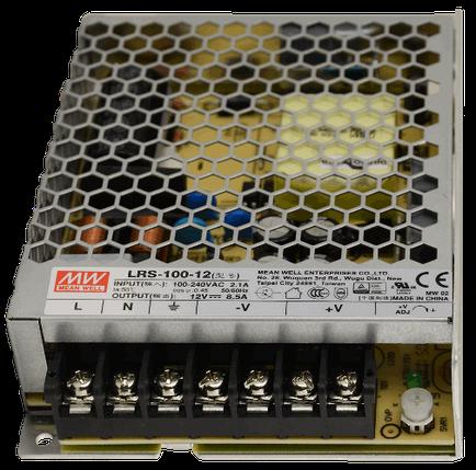 Блок питания Mean Well LRS-100-12 12В; 8.5А; 102 Вт IP20 Код.59020, фото 2