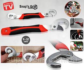 Универсальный ручной гаечный ключ Snap'N Grip. Комплект - 2шт Snap'N Grip