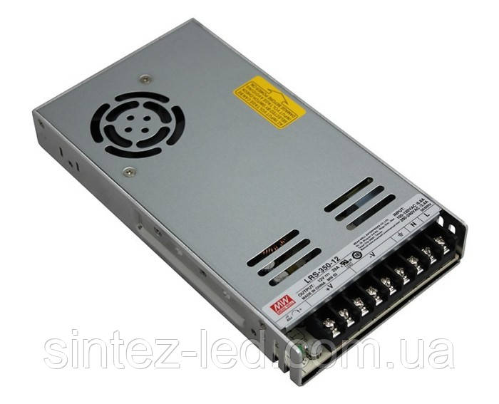 Блок питания Mean Well LRS-350-12 12В; 29А; 348 Вт IP20 Код.59026