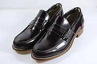 Итальянские мужские туфли лоферы 42 размер 28,5 см