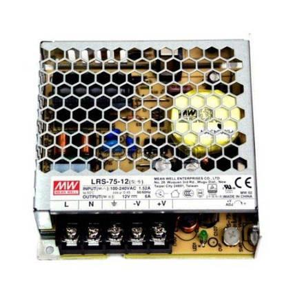 Блок питания Mean Well LRS-75-12 12В; 6А; 72 Вт IP20 Код.59029, фото 2