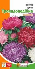 Насіння Квіти Айстра суміш трояндоподібна 0,03 г ТМ Яскрава, фото 2
