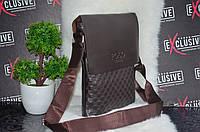 Мужская сумка  коричневая, фото 1