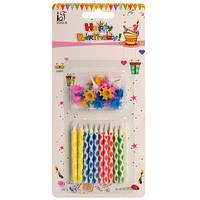 Аксессуары для праздника SR021-20Z (288шт) свеча 20шт, 6см, на подставке, на листе, 9-20,5-1,5см