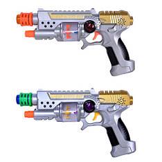 Пистолет CF 927  муз, свет, на батарейках, в кульке, 26-15см