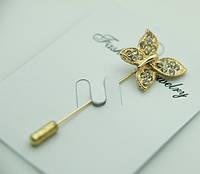 563 Брошь игла бабочка, броши оптом в Украине из Китая