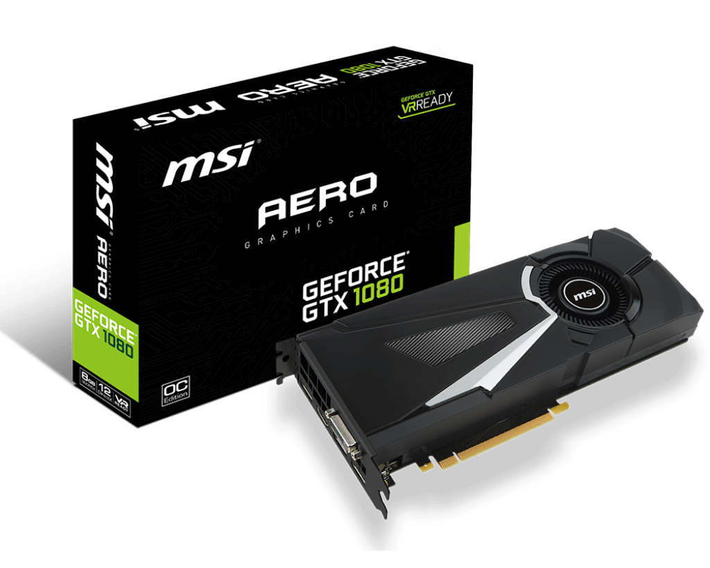 "Видеокарта MSI AERO GTX1080 8GB GDDR5X 256bit (GTX 1080 AERO 8G OC) ""Over-Stock"" Б/У"
