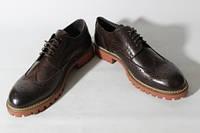 Итальянские мужские туфли броги  42размер 28 см