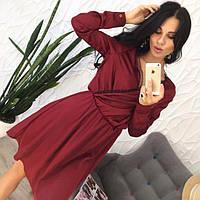 Платье женское короткое из шелка P7394