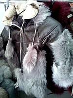 Дубленки из натуральной овчины, с капюшоном