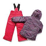Зимний костюм для девочки PELUCHE F17 M 68 EF Smokey Grey / Scarlet. Размеры 96 - 128., фото 2