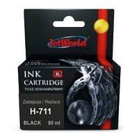 Струйный картридж JetWorld для HP 711  (отображается уровень чернил) (CZ133A)