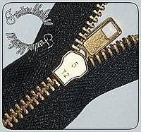 Молния джинсовая №5 длина 10 см черного цвета