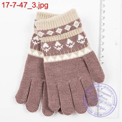 Оптом шерстяные перчатки для девочек и мальчиков 2, 3, 4 года - №17-7-47, фото 3