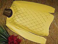 Свитер Джемпер из вискозы 602 желтый 42-48р