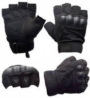 Перчатки Тактические (пол-пальца) GL615-Black L