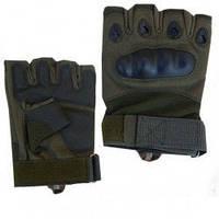 Перчатки Тактические (пол-пальца) GL644-Green XL