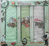 Набор вафельных кухонных полотенец в коробке TAG 45*65 - 3V002