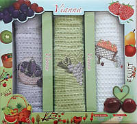 Набор вафельных кухонных полотенец в коробке TAG 45*65 - 3V006