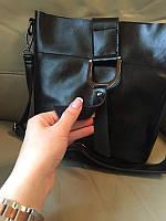 Сумка натуральная кожа ss258464  кожаные сумки графит, чёрный , молочная, фото 1