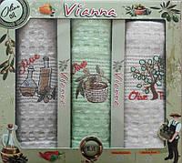 Набор вафельных кухонных полотенец в коробке TAG 45*65 - 3V009