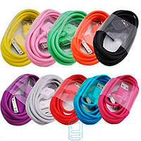 USB - Apple 30pin шнур для iPhone 4S mix color в коробке