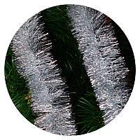 Дождик (мишура) 7 см Польша (серебро)
