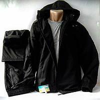Утепленный прогулочный турецкий костюм Соккер на натуральной хлопковой тканиподкладке, чёрный.