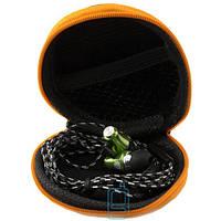 Наушники с микрофоном JBL + круглый чехол змейка чорные