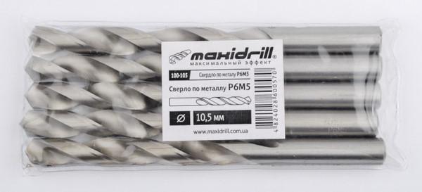 Сверло по металлу P6M5 15,5 мм с хвостовиком 10 мм