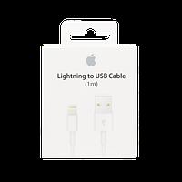 Кабель данных (Retail BOX MD818ZM/A) Apple iPhone 5/ 5C/ 5S/ iPad Air/ mini (Lightning to USB Cable 1m) model A1480, оригинал