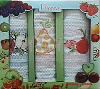 Набор вафельных кухонных полотенец в коробке TAG 45*65 - 3V008